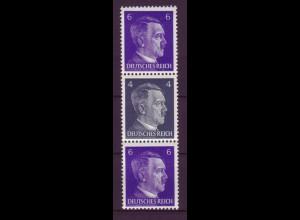 Dt. Reich ZD S 293 Adolf Hitler Mi.Nr. 785/783/785 6 Pf + 4 Pf + 6 Pf postfrisch