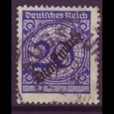 Dt. Reich Dienst D 102 Einzelmarke 20 Pf gestempelt /2