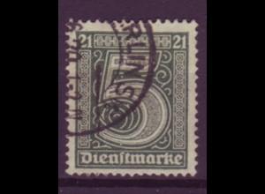Dt. Reich Dienst D 16 Einzelmarke 5 Pf gestempelt /1