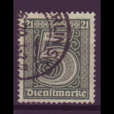 Deutsches Reich Dienst D 16 Einzelmarke 5 Pf gestempelt /1