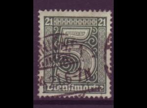 Dt. Reich Dienst D 16 Einzelmarke 5 Pf gestempelt /2