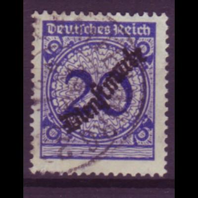 Dt. Reich Dienst D 102 Einzelmarke 20 Pf gestempelt /4