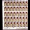 DDR 2853 kompl. Bogen mit Plf. I+II Viertelmeilenstein 10 Pf gestempelt