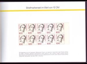 Bund Frauen Gedenkheftchen GH 1 Briefmarken für Sie 1991 postfrisch