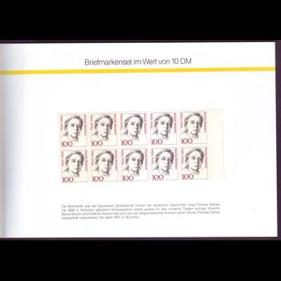 Gedenkheftchen GH 1 Briefmarken für Sie 1991