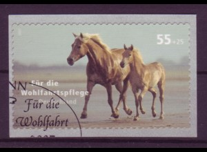 Bund 2635 SELBSTKLEBEND aus Rolle Wohlfahrt Haustiere Pferde 55+25 C postfrisch