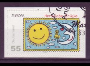 Bund 2665 SELBSTKLEBEND aus MH 73 Europa Herzliche Grüße 55 Cent gestempelt