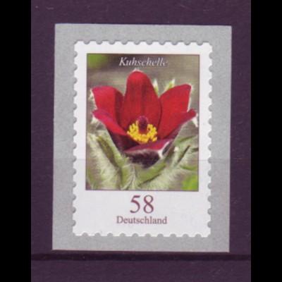 Bund 2971 SELBSTKLEBEND aus Rolle Blumen Kuhschelle 58 C postfrisch