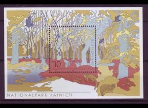 Bund Block 52 I Plattenfehler Dt. National und Naturparks (IV) 110 Pf postfrisch