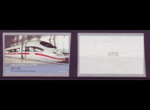 Bund 2567 Rollenmarke SB mit gerader Nr. InterCityExpress 403 55+25 C postfrisch