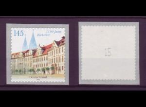 Bund 2643 Rollenmarke SB mit ungerader Nr. 1100 Jahre Eichstätt 145 C postfrisch