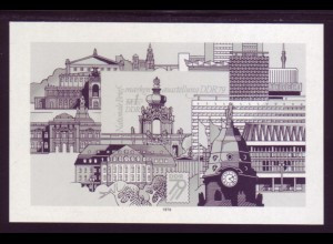DDR Schwarzdruck Block 55s Briefmarkenausstellung 1979