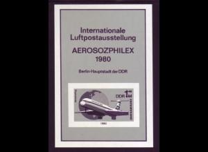 DDR Schwarzdruck Block 59s AEROSOPHILEX 1980
