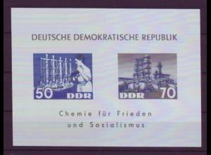 DDR Block 18 Chemische Industrie postfrisch