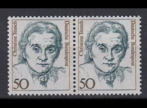 Bund 1304 waagerechtes Paar Frauen der deutschen Geschichte (I) 50 Pf postfrisch