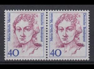 Bund 1331 waagerechtes Paar Frauen der dt. Geschichte (II) 40 Pf postfrisch