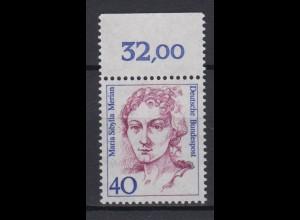 Bund 1331 mit Oberrand Frauen der dt. Geschichte (II) 40 Pf postfrisch