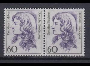 Bund 1332 waagerechtes Paar Frauen der dt. Geschichte (II) 60 Pf postfrisch