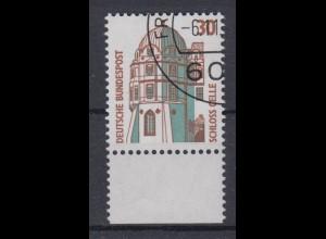 Bund 1339 A mit Unterrand Sehenswürdigkeiten (I) 30 Pf gestempelt