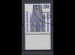 Bund 1340 A mit Unterrand SWK (I) 50 Pf gestempelt