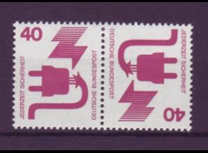 Bund 699 Zusammendruck K12 Unfallverhütung 40/40 Pf postfrisch