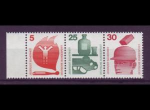 Bund 694,697,698 Zusammendruck W44 Unfall 5/25/30 Pf postfrisch