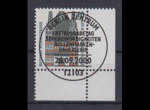 Bund 2139 Eckrand rechts unten SWK 10 Pf/ 0,05 € mit ESST Berlin