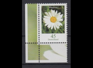 Bund 2451 Eckrand links unten Blumen Margerite 45 Cent postfrisch