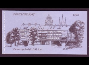 DDR Markenheftchen 10 Bauwerke + Denkmäler 1990 postfrisch