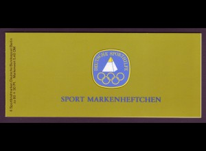 Berlin Sport Markenheftchen 6x 645 60 Pf. 1981 postfrisch