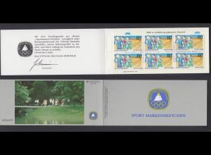 Bund Sport Markenheftchen 6x 1127 60+ 30 Pf 1982 postfrisch