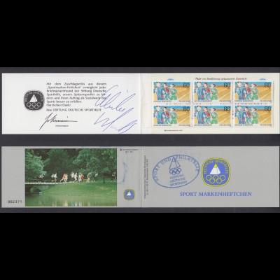 Bund Sport Markenheftchen 6x 1127 60+ 30 Pf 1982 postfrisch mit Unterschriften/2