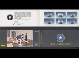 Bund Sport Markenheftchen 6x 1238 80+ 40 Pf 1985 postfrisch