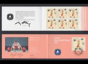 Bund Sport Markenheftchen 6x 1499 70+ 30 Pf 1991 postfrisch