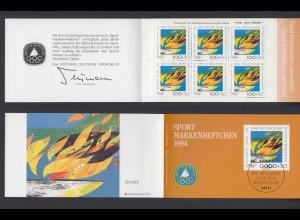 Bund Sport Markenheftchen 6x 1719 100+ 50 Pf 1994 postfrisch