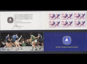 Bund Sport Markenheftchen 6x 1009 60+ 30 Pf 1979 postfrisch