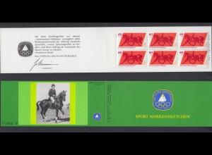 Bund Sport Markenheftchen 6x 1047 60+ 30 Pf 1980 postfrisch