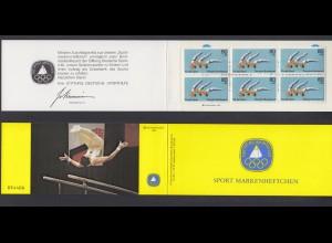 Bund Sport Markenheftchen 6x 1172 80+ 40 Pf 1983 postfrisch