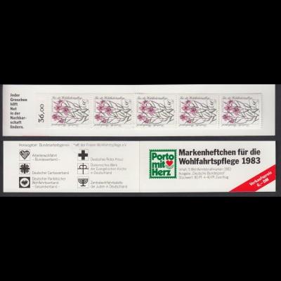 Bund Wolhfahrt AWO Markenheftchen 5x 1190 80+ 40 Pf 1983 postfrisch