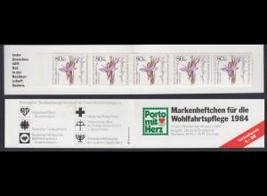 Bund Wolhfahrt AWO Markenheftchen 5x 1227 80+ 40 Pf 1984 postfrisch