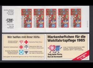 Bund Wolhfahrt AWO Markenheftchen 5x 1261 80+ 40 Pf 1985 postfrisch