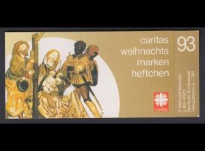 Bund Caritas Weihnachten Markenheftchen 5x 1707 80+ 40 Pf 1993 postfrisch