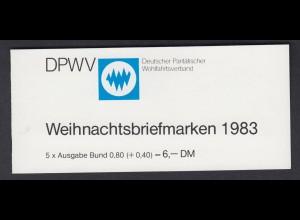 Bund Parität. Wohlfahrtsverband Markenheftchen 5x 1196 80+ 40 Pf 1983 postfrisch