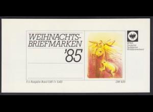 Bund Parität. Wohlfahrtsverband Markenheftchen 5x 1267 80+ 40 Pf 1985 postfrisch