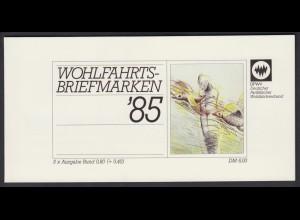 Bund Parität. Wohlfahrtsverband Markenheftchen 5x 1261 80+ 40 Pf 1985 postfrisch