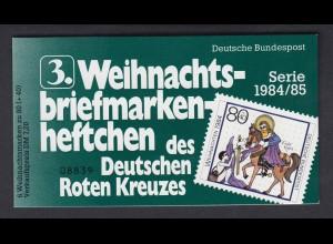 Bund Rotes Kreuz Weihnachten Markenheftchen 5x 1233 80+ 40 Pf 1984/85 postfrisch