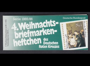 Bund Rotes Kreuz Weihnachten Markenheftchen 5x 1267 80+ 40 Pf 1985/86 postfrisch