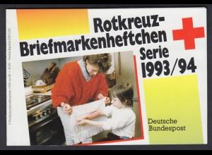 Bund Rotes Kreuz Wohlfahrt Markenheftchen 5x 1696 80+ 40 Pf 1993/94 postfrisch