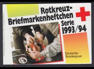 Bund Rotes Kreuz Wohlfahrt Markenheftchen 5x 1698 100+ 50 Pf 1993/94 postfrisch
