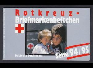 Bund Rotes Kreuz Wohlfahrt Markenheftchen 5x 1758 80+ 40 Pf 1994/95 postfrisch